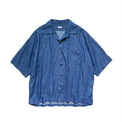 KAPITAL  5.5oz ソフトデニム 開襟BIGシャツ
