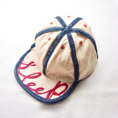 KAPITAL  スレキ×8ozデニム KOLA CAP(SLEEP刺繍)