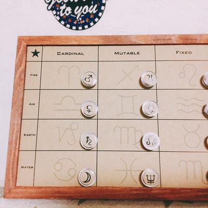 #サイン入り分類ボード 付き! #豆惑星マグネットジェネリック 「クリアカフェオレ」 (またはモノクロバージョン選択可)