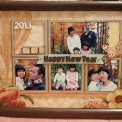 年賀状にもなる「happy new year」