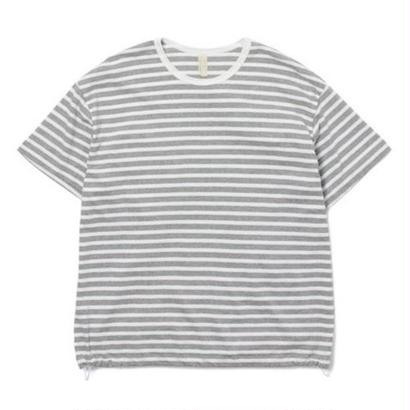 "Sandinista ""Easy Fit Border Tee"" (グレー×ホワイト)"