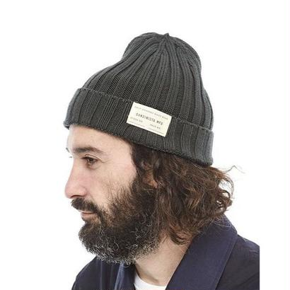 "Sandinista ""Daily Cotton Rib Knit Cap"" (チャコール)"