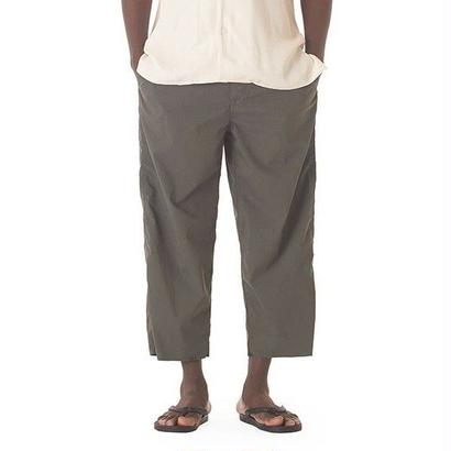 """Sandinista """"Packable Wide Ankle Cut Stretch Pants""""(フォレストグリーン)"""