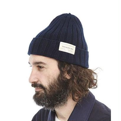 "Sandinista ""Daily Cotton Rib Knit Cap"" (ネイビー)"