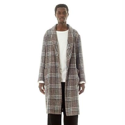 Easy Fit Wool Check Gown (モカ)