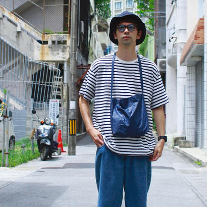 "Sandinista ""Easy Fit Border Tee"" (ホワイト×ネイビー)"