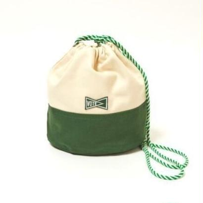 "VOTE MAKE NEW CLOTHES ""KINCHAKU CANVAS POUCH S""(グリーン)"