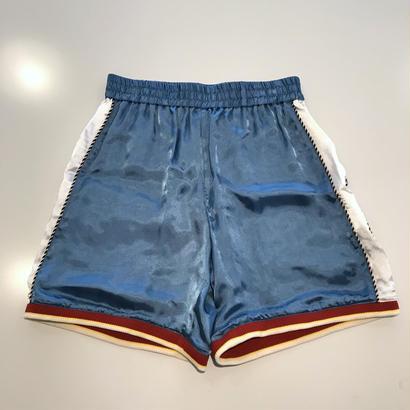 """VOTE MAKE NEW CLOTHES """"SATIN SOUVENIR SHORTS 7"""" (ブルー)"""
