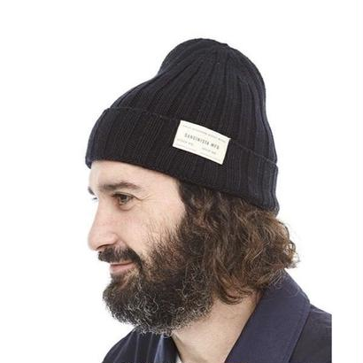"Sandinista ""Daily Cotton Rib Knit Cap"" (ブラック)"