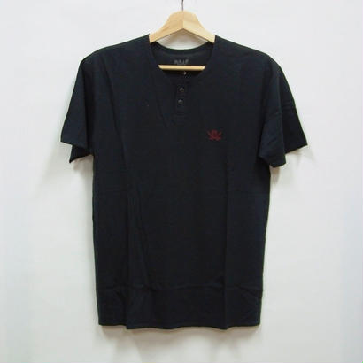 RJB  FLAT HENLEY-NECK T-シャツ TRN005