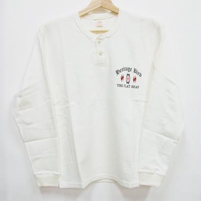 フラットヘッド 長袖ヘンリーネックTシャツ  TMRL-01W