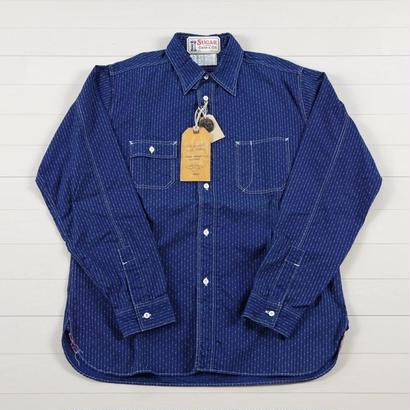 シュガーケーン 4.5oz.  INDIGO DOT STRIPE WORK SHIRTS  SC27507