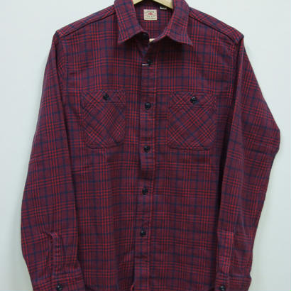 シュガーケーン  TWILL CHECK L/S WORK SHIRTS SC27063