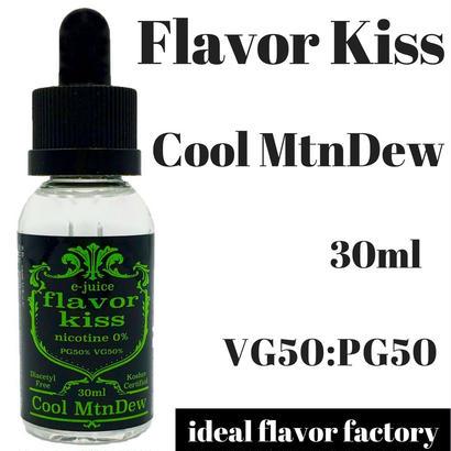 【シェフが作るクラフトリキッド】 VAPE 電子タバコ 国産 リキッド 爆煙 Flavor Kiss クールマウンテンデュー 味 (30ml)