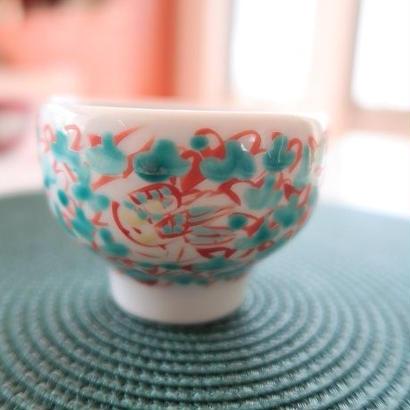 赤地健、ぐい吞み、九谷焼、金沢 赤地陶房