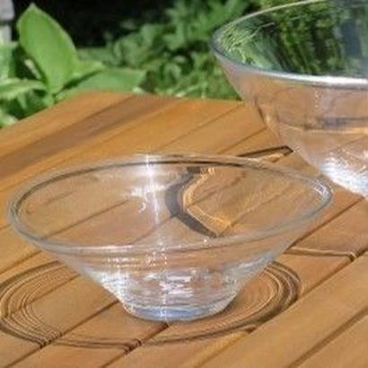 海藤博、吹きガラス、オーバルサラダボール 2個組(ペア)、海外発送不可