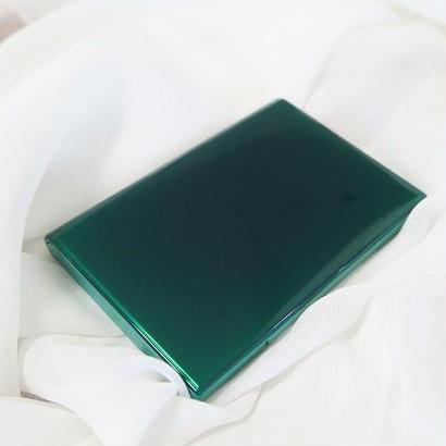 カードケース(名刺入れ)、ディープグリーン、ornament