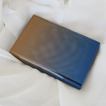 カードケース(名刺入れ)、ブラウン×ブルー、ornament