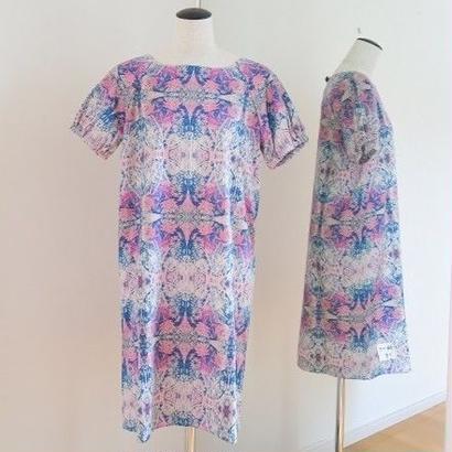 オリジナルワンピース Bi's Closet 半袖 ネイビー&ピンク