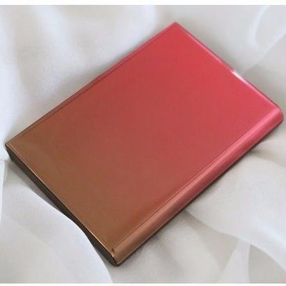 カードケース(名刺入れ)、ブラウン×レッド、ornament