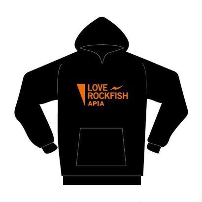 【限定・予約】LOVE ROCK FISHプルオーバーパーカ [ブラック]