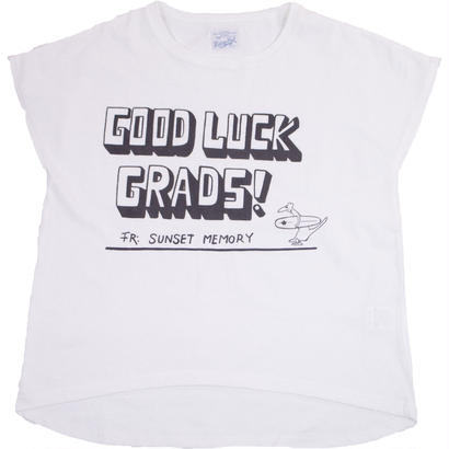 (LADY'S)FRENCH SLEEVE TEE -WHITE-