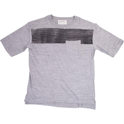 WIDE POCKET TEE - MIX GRAY