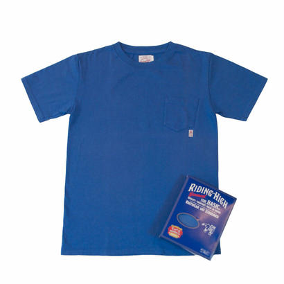 STANDARD PACK COLOR POCKET TEE -BLUE-