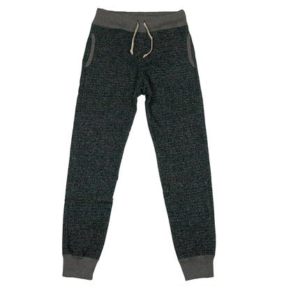 LOOPWHEEL SWEAT PANTS -MIX BLACK-