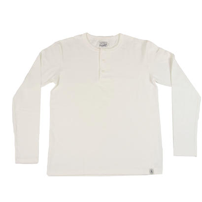 LOOPWHEEL HENLEY L/S T-SHIRTS -OFFWHITE-