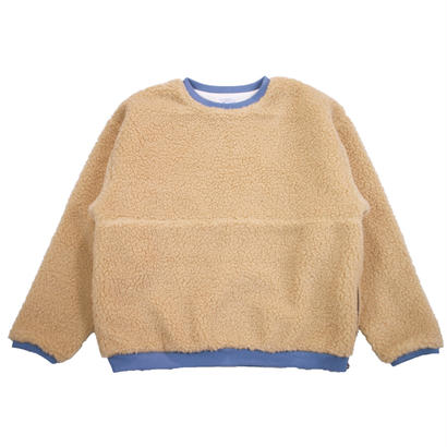BOA FLEECE ZIP REVERSIBLE CREW -BEIGE-