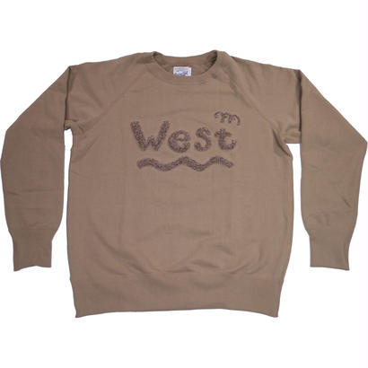 HANDLE EMBROIDERY RAGLAN CREW -SAND-