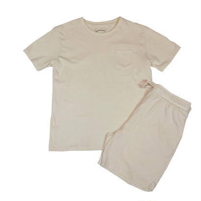 JERSEY T-SHIRT SET -NATURAL-