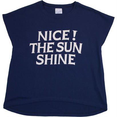 (LADY'S)FRENCH SLEEVE TEE -NAVY-