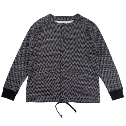 HERRINGBONE FLEECE NO COLLAR COACHES JACKET
