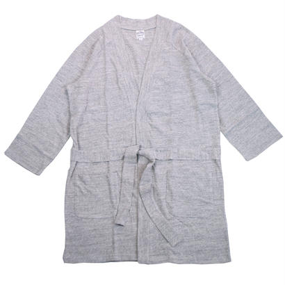 12/- JERSEY LONG CARDIGAN for men -MIX GRAY-