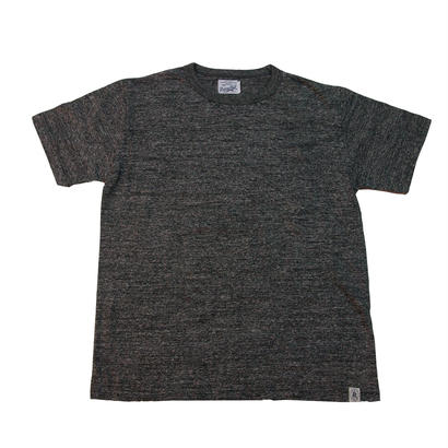 LOOPWHEEL POCKET T-SHRITS -MIX CHARCOAL-