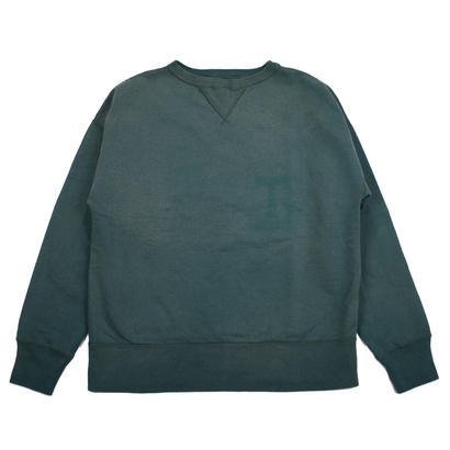 SUNBURN PROCESSING CREW NECK -GREEN-