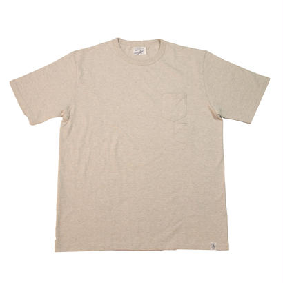 LOOPWHEEL POCKET T-SHIRTS -OATMEAL-