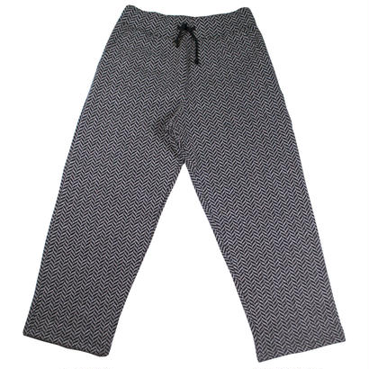 HERRINGBONE FLEECE ONE TUCK PANTS