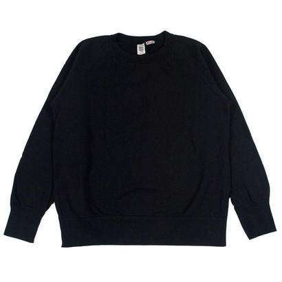 7.5 oz. USA FLEECE RAGLAN SWEAT -BLACK-