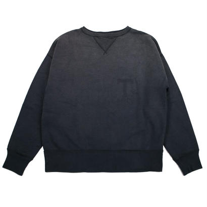 SUNBURN PROCESSING CREW NECK -BLACK-