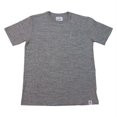 LOOPWHEEL POCKET T-SHIRTS -MIX GRAY-
