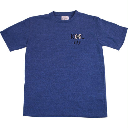 HANDLE EMBROIDERY MESSAGE TEE -MIX NAVY-