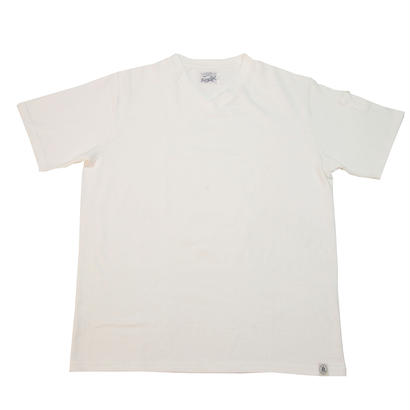 LOOPWHEEL V-NECK T-SHIRTS -OFFWHITE-