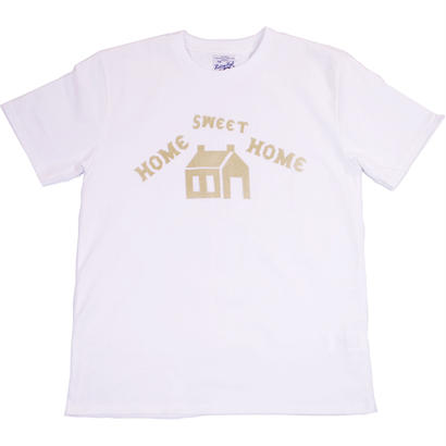 HOME SWEET HOME HAND FLOCKY TEE -WHITE-