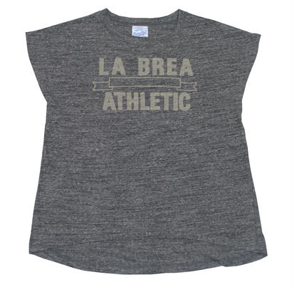 (LADY'S)FRENCH SLEEVE TEE -MIX CHARCOAL-