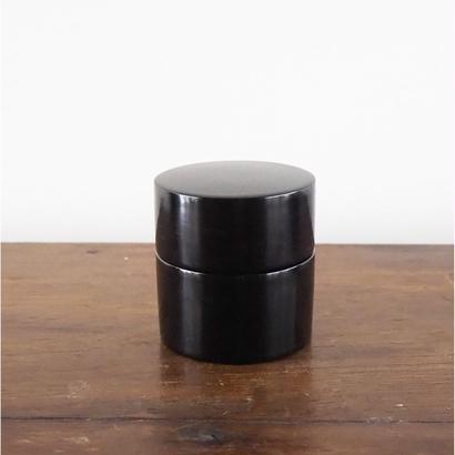 no428    黒漆の茶入