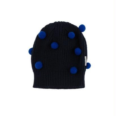 pom poms beanie (blue) / tinycottons