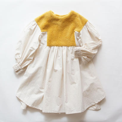 Boa Gather Dress ( L ) / folkmade